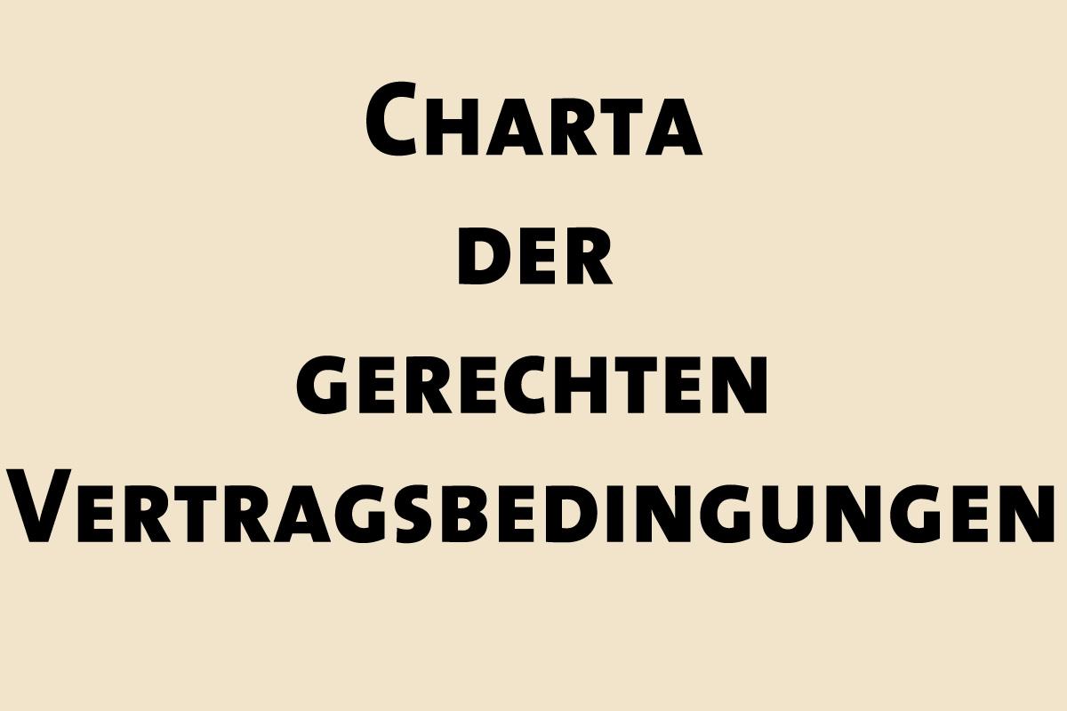 Bild zur Charta der gerechten Vertragsbedingungen