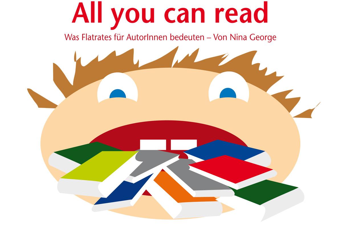 """Illustration zum Artikel """"All you can read"""" von Nina George"""