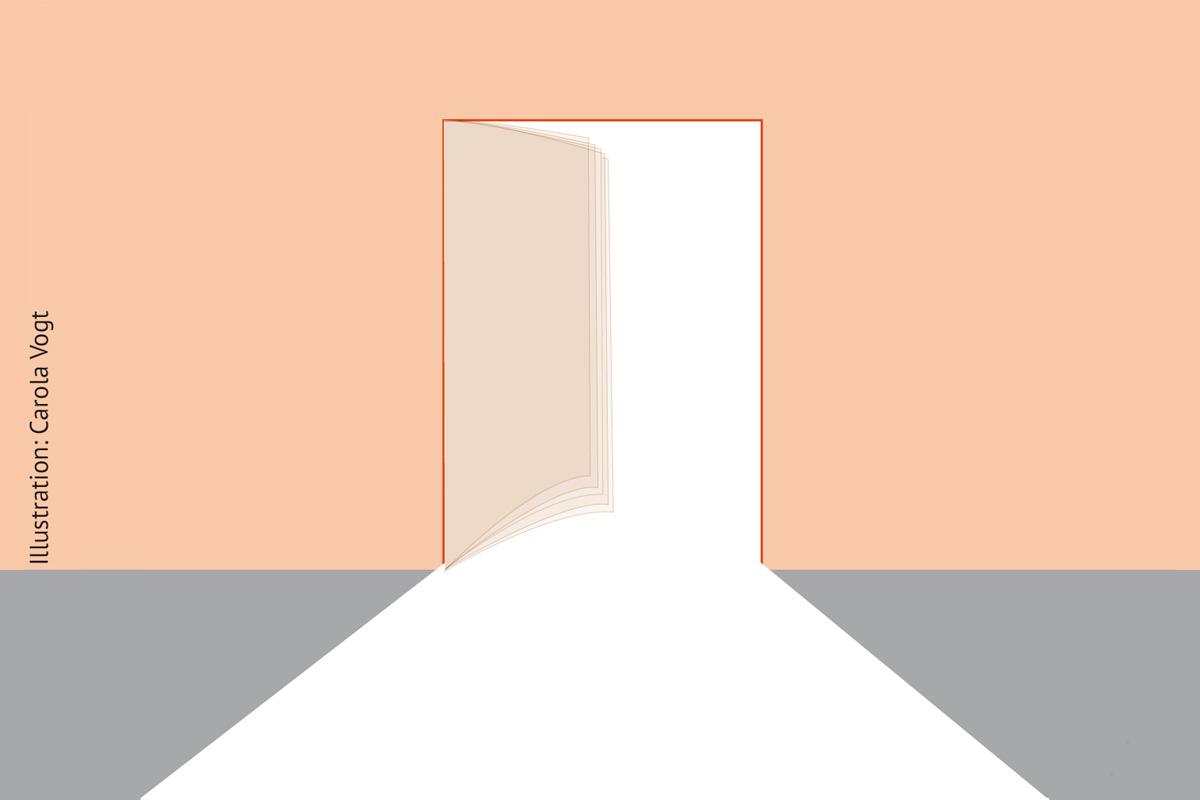 Illustration einer geöffneten Tür