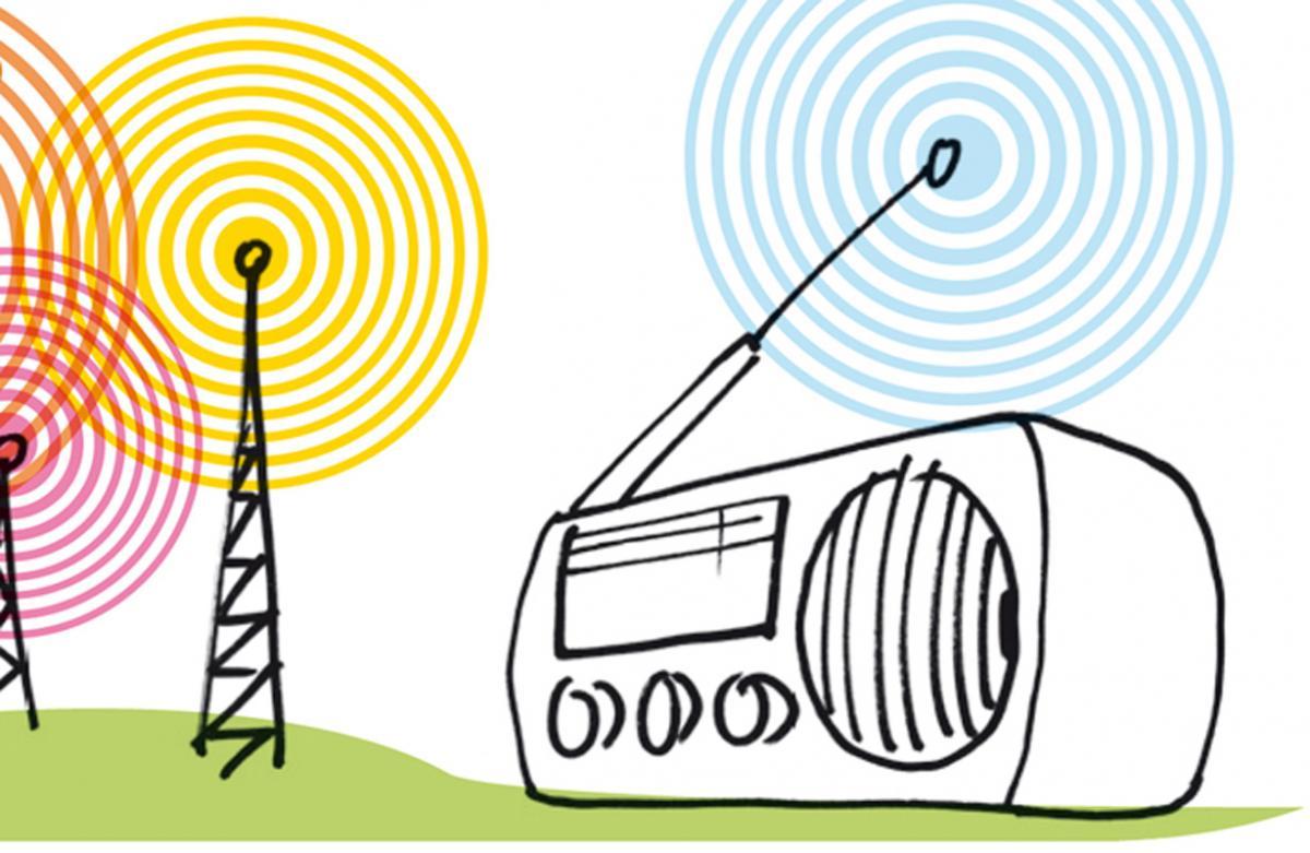 """Illustration zum Artikel """"Wie kommt mein Buch ins Radio"""" von Jens Brehl"""