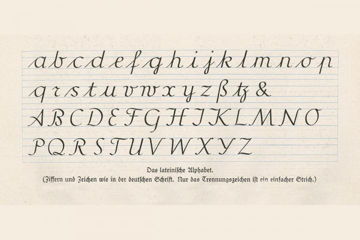 Bild mit Alphabet