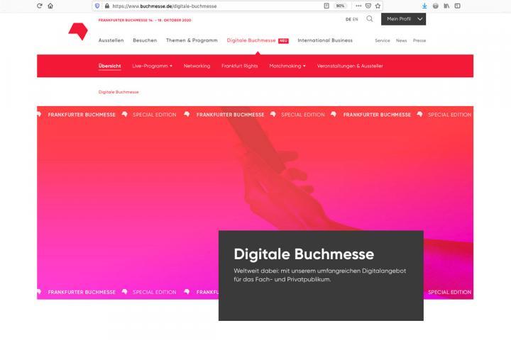 Anmeldung als digitaler Aussteller der #fbm20 noch bis zum 30. September 2020 möglich