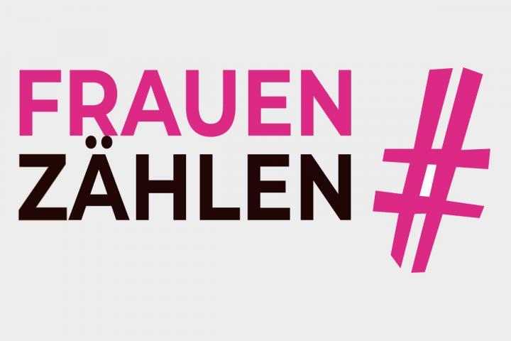Logo zur Pilotstudie #frauen zählen