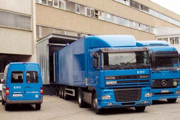 KNV Lastwagen noch in Stuttgart