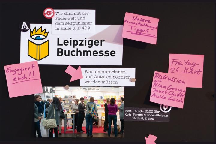 Diskussion auf der Leipziger Buchmesse 2017 mit Nina George, Janet Clark und Anke Gasch