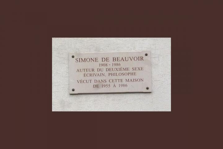 Gedenktafel für Simone de Beauvoir