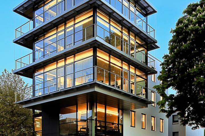 Redaktionsgebäude der Mhoch2 TV-Produktionsgesellschaft in Hamburg