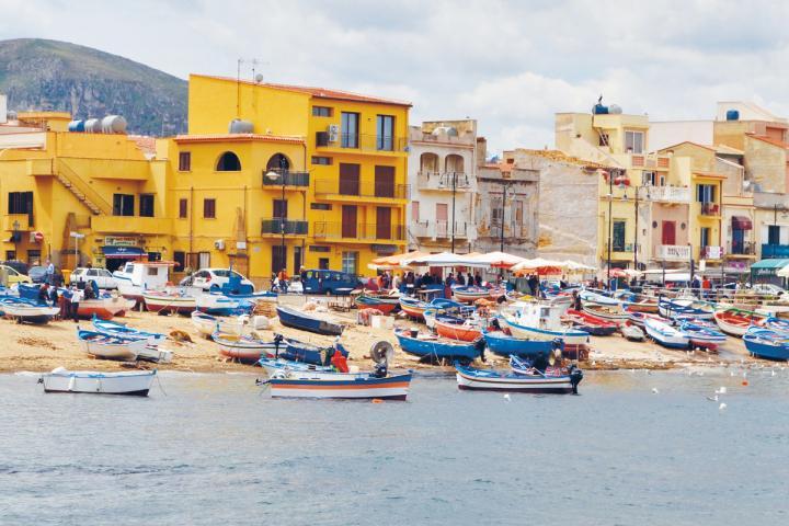 Küstenbild Sizilien bei der Literaturreise