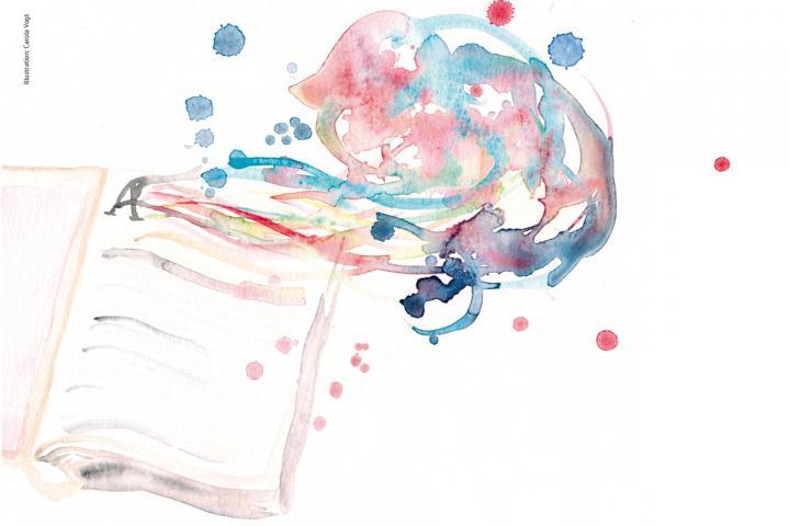 Illustration eines Buches