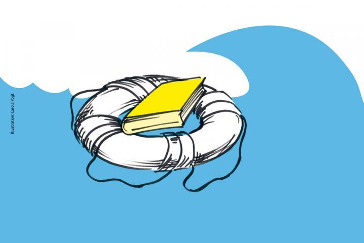 Rettungsring als Symbol für Hilfe in Not