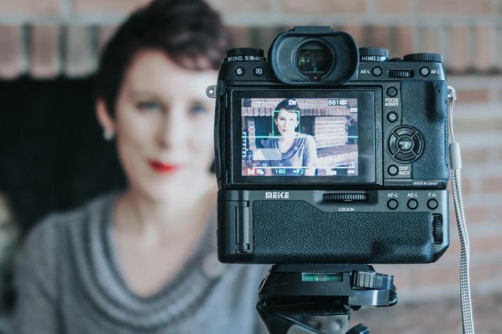 Annika Bühnemann vor der Kamera