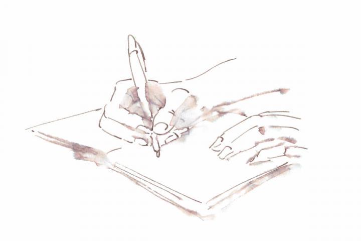 Grafik von Carola Vogt zum Thema Journaling und Selbstmanagement für Selfpublisher
